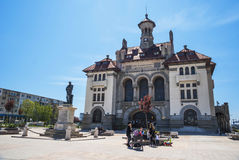 Ovidiu Square with  National History and Archeology Museum in the Old Town of Constanta. CONSTANTA COUNTY, ROMANIA ,EUROPE - APRIL 24, 2015. Ovidiu Square with Stock Images
