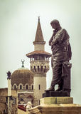 Ovidius staty och moské av Constanta Fotografering för Bildbyråer
