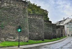Roman Walls of Lugo Stock Image