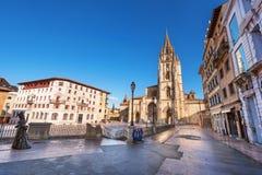 Oviedo cathedral, Asturias, Spain. Beautiful Oviedo cathedral, Asturias, Spain royalty free stock image