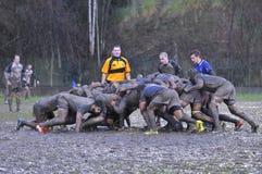 OVIEDO, ESPAGNE - 31 JANVIER : Correspondance amateur de rugby entre le vrai Photos libres de droits