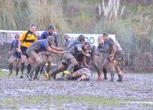 OVIEDO, ESPAGNE - 31 JANVIER : Correspondance amateur de rugby entre le vrai Photographie stock libre de droits