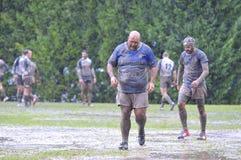 OVIEDO, ESPAGNE - 31 JANVIER : Correspondance amateur de rugby entre le vrai Images stock
