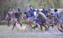 OVIEDO, ESPAGNE - 31 JANVIER : Correspondance amateur de rugby entre le vrai Image libre de droits