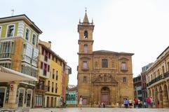 Oviedo kerk Royalty-vrije Stock Afbeeldingen