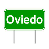 Oviedo road sign. Royalty Free Stock Photography