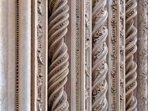 Ovieto cathedral italy umbria columns closeup. Ovieto cathedral italy umbria columns close up royalty free stock image