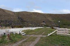 Ovile nel villaggio di Temaukel Tierra del Fuego Fotografie Stock Libere da Diritti