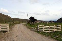 Ovile nel villaggio di Temaukel Tierra del Fuego Fotografia Stock