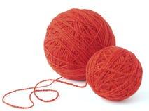 Ovillos de las lanas Imagenes de archivo