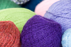 Ovillos del color Foto de archivo libre de regalías