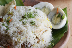 Ovo Biryani - um arroz basmati indiano cozinhou com ovo Fotos de Stock