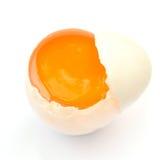 Ovo branco do pato fotografia de stock