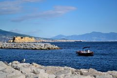 Ovo Castel in Naples Royalty Free Stock Images