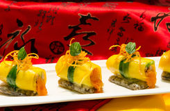 Ovo chinês Rolls Imagem de Stock