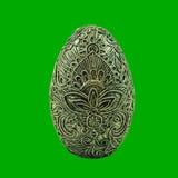 ovo da decoração do papier-mache com um teste padrão imagens de stock