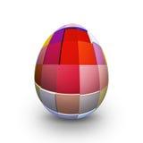 Ovo da páscoa colorido no fundo branco - 3d Imagens de Stock