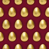 Ovo da páscoa com os ovos dourados modelados ilustração stock