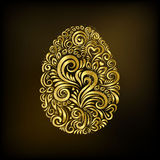 Ovo da páscoa dourado ilustração royalty free