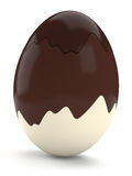 Obscuridade, leite e ovo da páscoa branco do chocolate ilustração royalty free