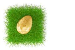 Ovo da páscoa na grama verde fresca Fotos de Stock Royalty Free