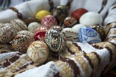 Ovo da páscoa pintado tradicional de Bucovina, Romênia Imagem de Stock Royalty Free