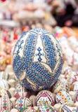 Ovo da páscoa tradicional, pintado à mão imagens de stock