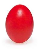 Ovo da páscoa vermelho isolado no branco Fotos de Stock