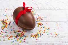 Ovo de chocolate de Easter Fotos de Stock Royalty Free