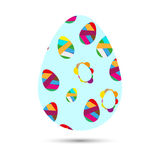 Ovo de Easter azul Foto de Stock Royalty Free