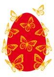Ovo de Easter com borboletas,   ilustração do vetor