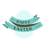 Ovo de Easter com fita ilustração stock