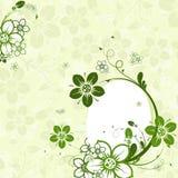 Ovo de Easter com fundo floral,   ilustração royalty free