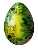 Ovo de Easter com ornamento floral Fotografia de Stock