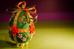 Ovo de Easter de pano Imagens de Stock