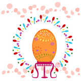 Ovo de Easter decorações Pequeno almoço Foto de Stock