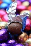 Ovo de easter do chocolate Imagens de Stock