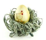 Ovo de Easter em um ninho Fotos de Stock