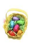 Ovo de Easter na cesta de bambu Imagens de Stock Royalty Free