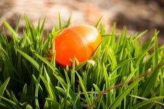 Ovo de Easter na grama Fotografia de Stock