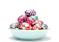 Ovo de Easter no disco Fotografia de Stock