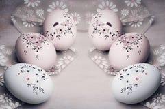 Ovo de Easter no estilo do vintage Fotos de Stock Royalty Free