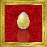 Ovo de Easter no vermelho ilustração royalty free