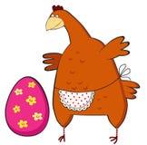Ovo de Easter surpreendido galinha. Foto de Stock Royalty Free