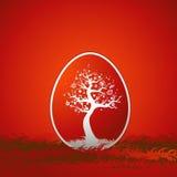 Ovo de Easter vermelho ilustração royalty free