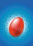 Ovo de easter vermelho ilustração do vetor