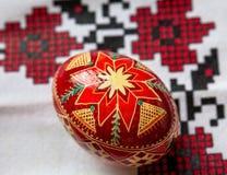 Ovo de Easter vermelho Imagem de Stock Royalty Free