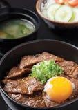Ovo de Gyudon Onsen Imagem de Stock