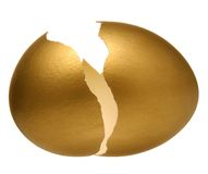 Ovo dourado. Imagens de Stock Royalty Free