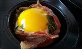 Ovo e bacon Imagem de Stock